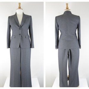 Tahari Solid Gray 2 Pc Pant Suit Formal Career 12